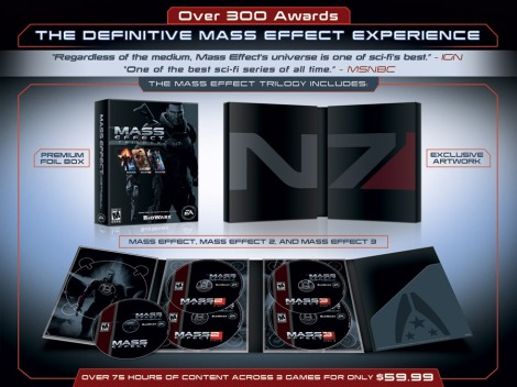 This is a perfect time for anyone who hasn't the played the Mass Effect games to jump in.  Three excellent games for $60 is an amazing deal.