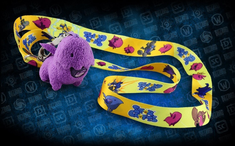 Starcrafts Zergling Plush Keychain